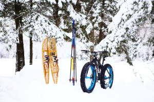 ski fat bike snowshoe