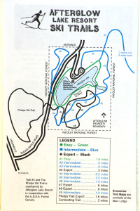 Afterglow Ski Trail Map